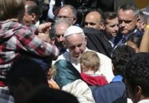 Pope teaches world a lesson–brings 12 refugees to the Vatican