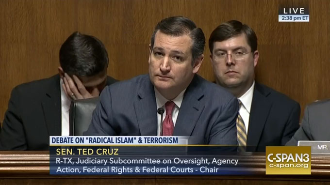 Ted Cruz Hearing Features Crackpot Anti-Muslim Witness