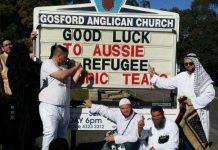 Far-right group storms an Australian church service, mocks Muslims