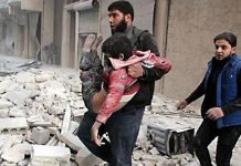 Syria war: 'More than 150 civilians killed' in two days