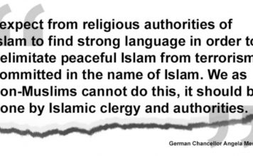 Angela Merkel Defends Muslims, But Says Christians Can't Stop Islamic Terrorism