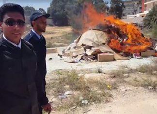 Forces loyal to Libya's Khalifa Haftar burn 6,000 books