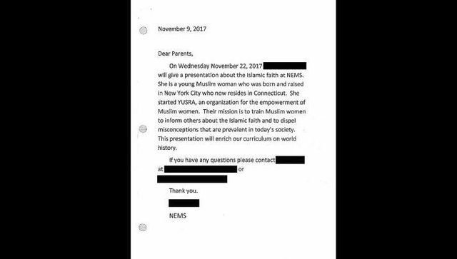 Connecticut school cancels Muslim speaker after community backlash