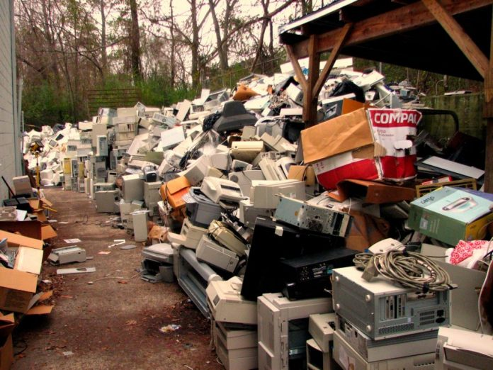Humans are producing 9 pyramid of Giza's worth of electronic waste per year