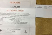 Counter-terror police investigate 'punish a Muslim' day letters