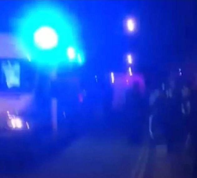 A video posted to Facebook allegedly showing the aftermath of the car attack outside a mosque in London, England. FACEBOOK/SAMIR HAIDARI