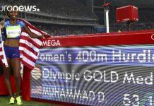 American Dalilah Muhammad wins Olympic gold in women's 400-meter hurdles