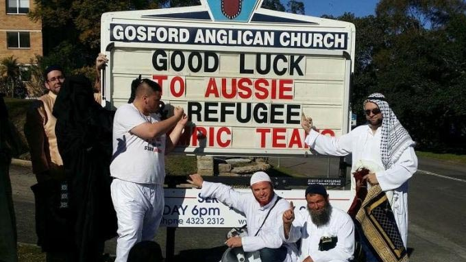 Far-right group storms an Australian church service, mocks Muslims