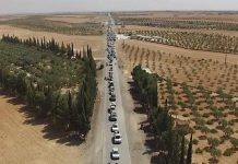 Photos show IS forces fleeing while using human shields
