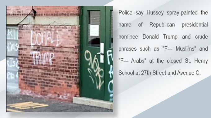 Bayonne man accused of anti-Muslim/Trump graffiti due in court Nov. 14