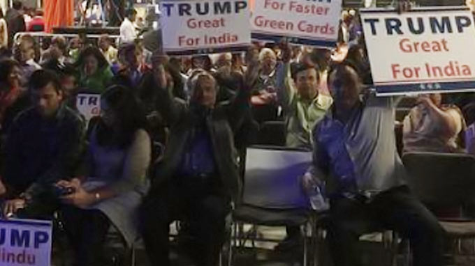 Trump energizes Hindu community at charity event in Edison
