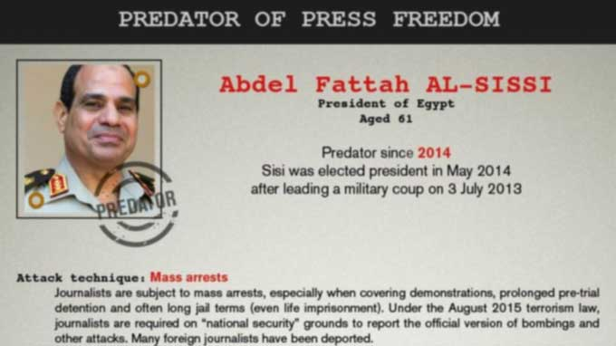 35 Leaders, Groups Listed as 'Predators of Press Freedom'