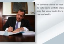 Christie vetoes unemployment benefits for striking workers