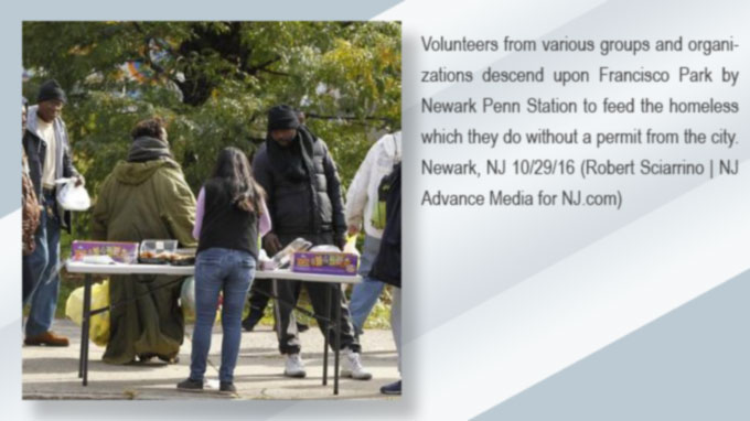 Feeding the homeless in Newark requires a permit
