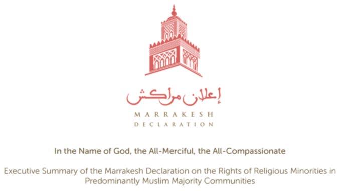 Executive Summary of the Marrakesh Declaration on the Rights of Religious Minorities in Predominantly Muslim Majority Communities