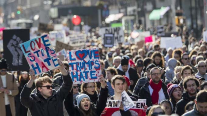 'Not My President' Anti-Trump Protests Continue Across US