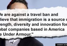 'We are against a travel ban,' Under Armour says