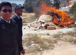 Forces loyal to Libya's Khalifa Haftar burn 6,000 books