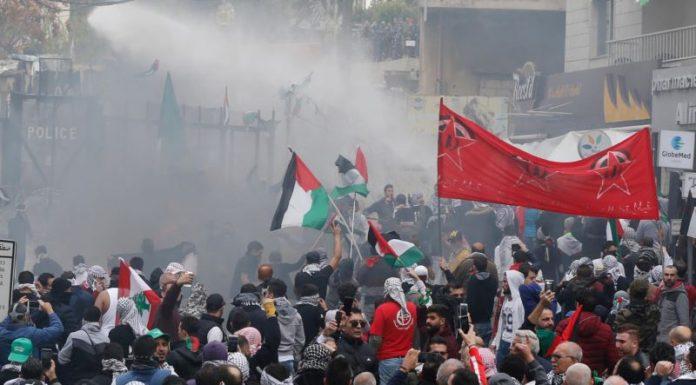Protests Against Jerusalem Decision Turn Violent in Lebanon