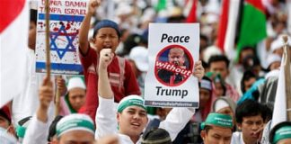 Thousands rally in Jakarta against US Jerusalem move