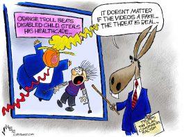 Trump Train Trolls (Cartoon and Column)