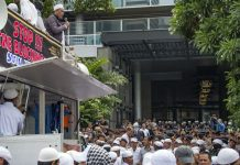 Hardline Muslims Rally Outside Facebook's Indonesian HQ