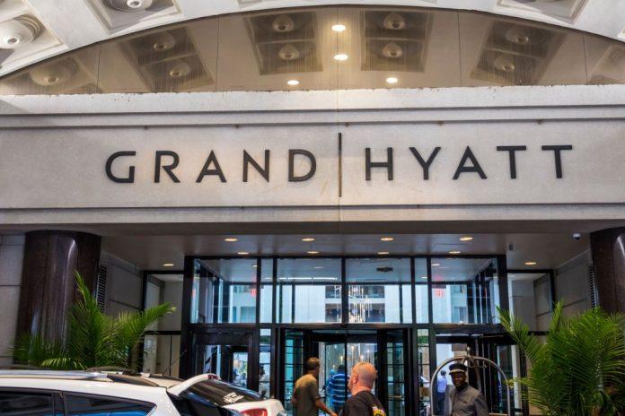 Washington DC, Grand Hyatt, hotel entrance