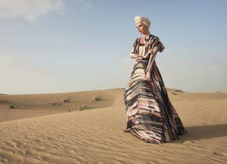 Raşit Bağzıbağlı for Modanisa 'Desert Dream' ensemble (spring/summer 2018) RAŞIT BAĞZIBAĞLI AND MODANISA/FINE ARTS MUSEUMS OF SAN FRANCISCO
